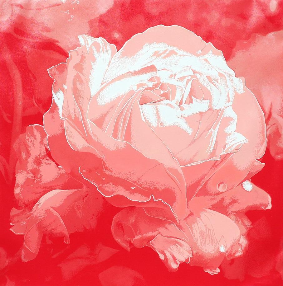 15. Roses 3 ROU7- TM - 90 x 90 cm