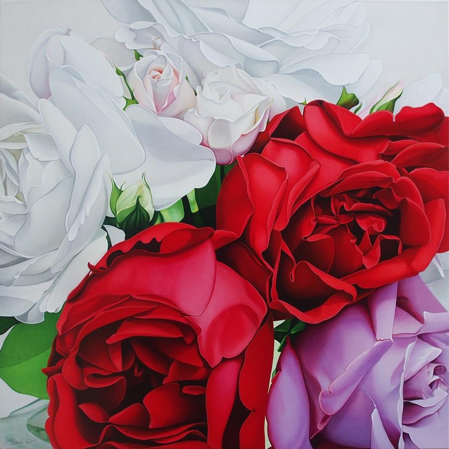 Roses-Rouges-et-mauve-Gal.-Daniel-Besseiche-AST-100-x-100-cm